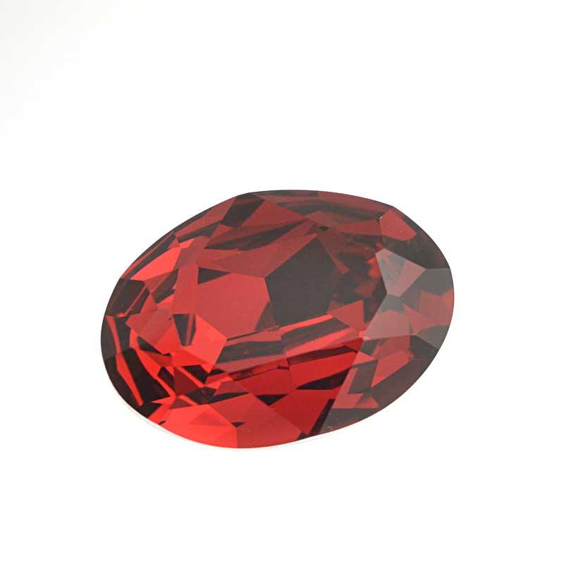 s64100 Swarovski Fancy Stone - 18x25mm Faceted Oval (4120) - Scarlet