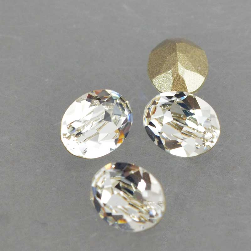 s64103 Swarovski Fancy Stone - 6x8mm Faceted Oval (4120) - Crystal (3)