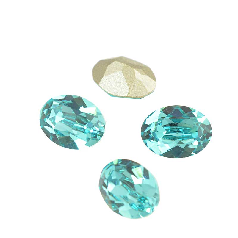 s64105 Swarovski Fancy Stone - 6x8mm Faceted Oval (4120) - Light Turquoise (3)