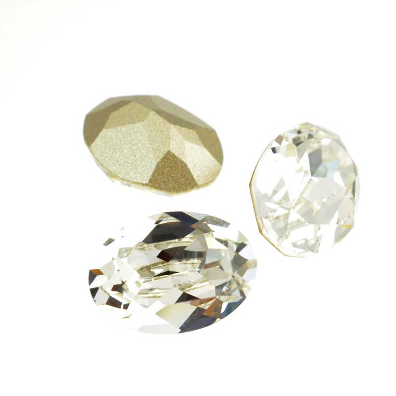 s64108 Swarovski Fancy Stone - 10x14mm Faceted Oval (4120) - Crystal (3)