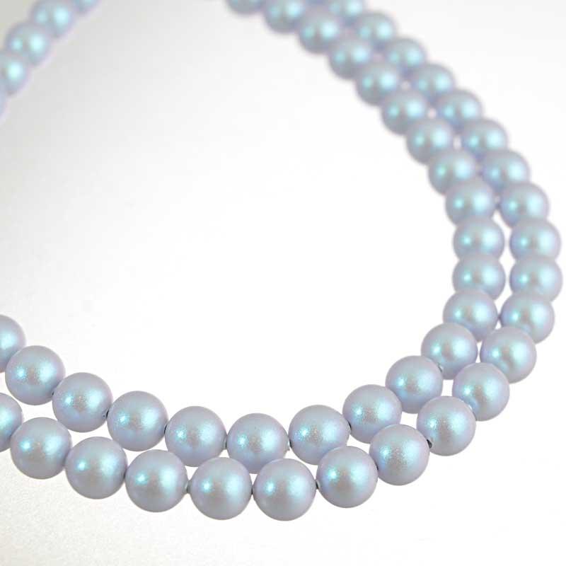 s64194 Swarovski Pearl - 6mm Round Pearl (5810) - Iridescent Dreamy Blue (strand 25)