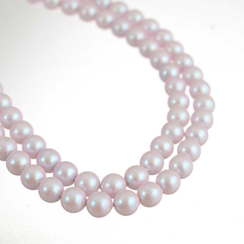 s64195 Swarovski Pearl - 6mm Round Pearl (5810) - Iridescent Dreamy Rose (strand 25)