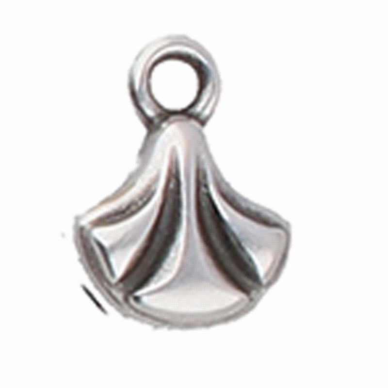 s64218 Cymbal Finding -  Padanassa - Ginko Ending - Antique Silver (4)