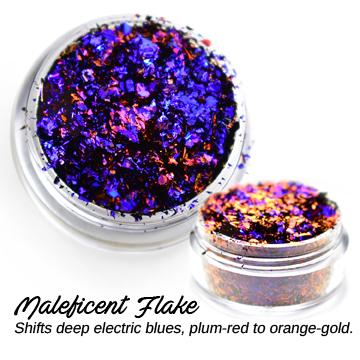s64313 Creative Art Pigments -  Lumiere Lusters Regular Flakes: - Maleficent Flake (Jar)