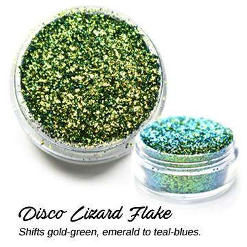 s64321 Creative Art Pigments -  Lumiere Lusters Regular Flakes: - Disco Lizard Flake (Jar)
