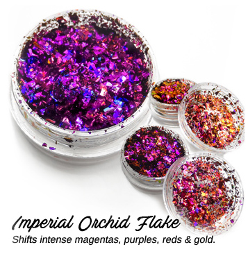 s64325 Creative Art Pigments -  Lumiere Lusters Regular Flakes: - Imperial Orchid Flake (Jar)