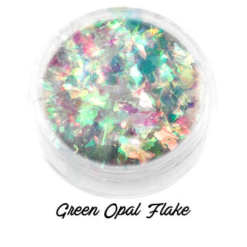 s64344 Creative Art Pigments -  Lumiere Lusters Opal Flakes: - Green Opal Transparent Flake (Jar)