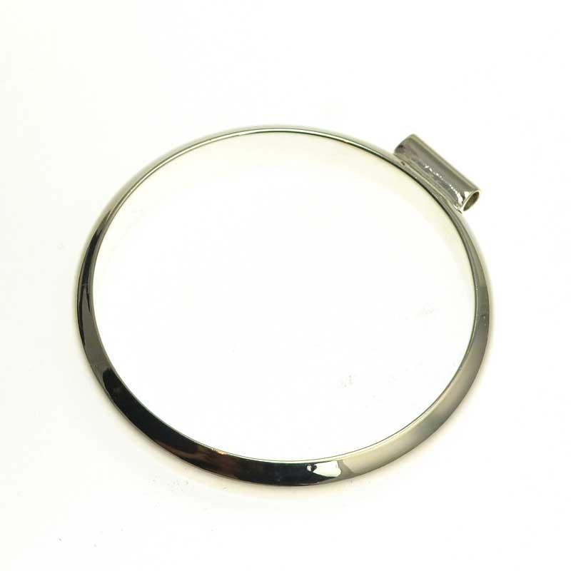 s64722 Open Bezel / Frame -  Round Pendant - Bright Silver