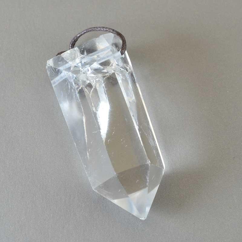 s64863 OOAK Stone Pendant -  Crystal Point - Quartz Crystal