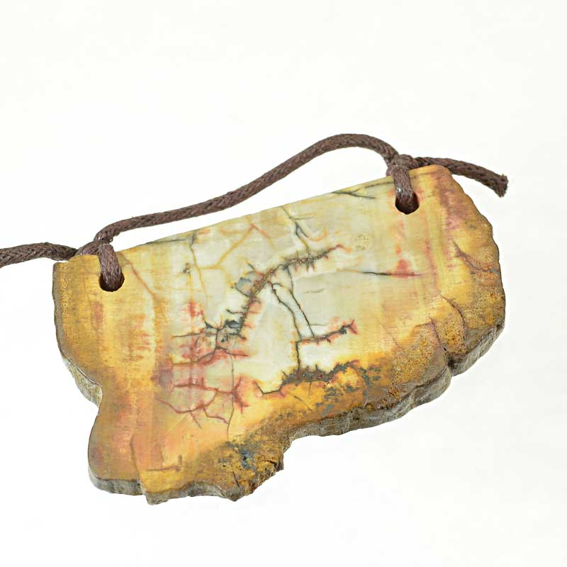s64898 OOAK Stone Pendant -  Freeform - Red Creek Jasper