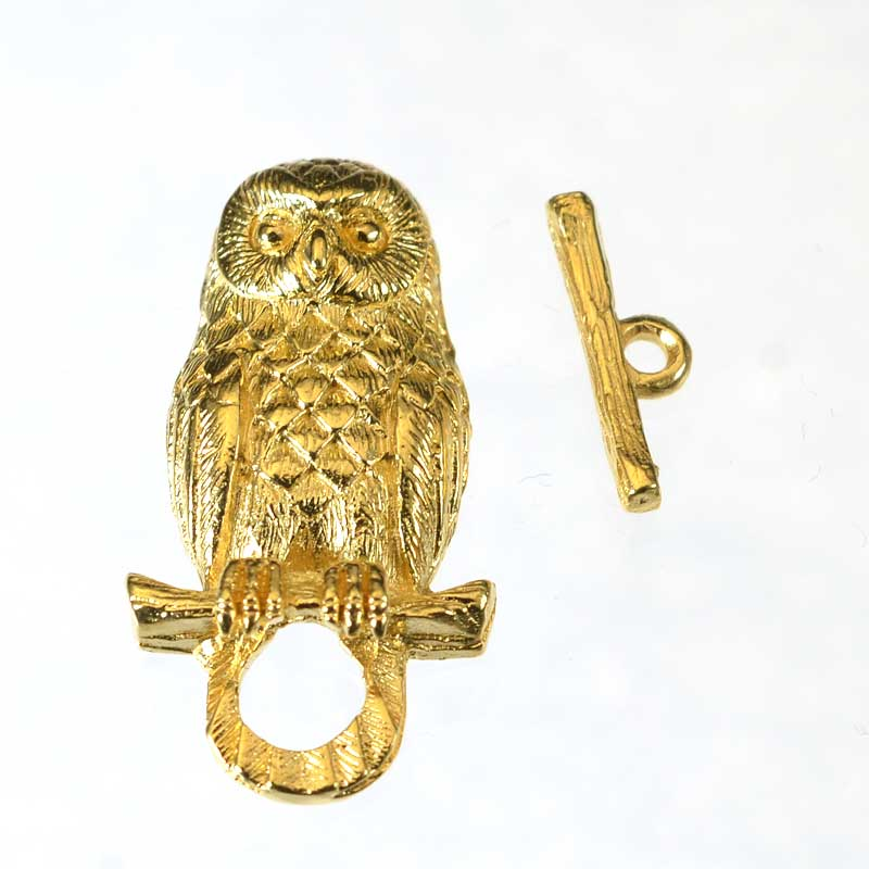 s64935 Clasp -  Branch Manager Owl - Gold Plated