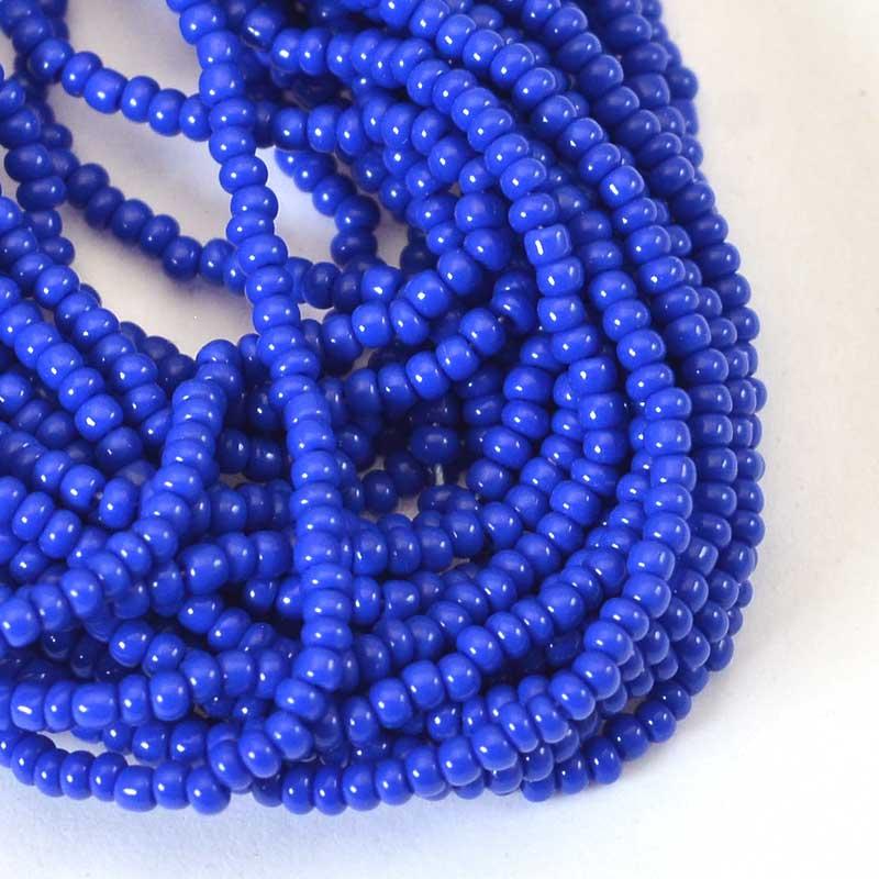 s65742 Czech Seedbeads - 12/0  - Opaque Lapis Blue (hank)