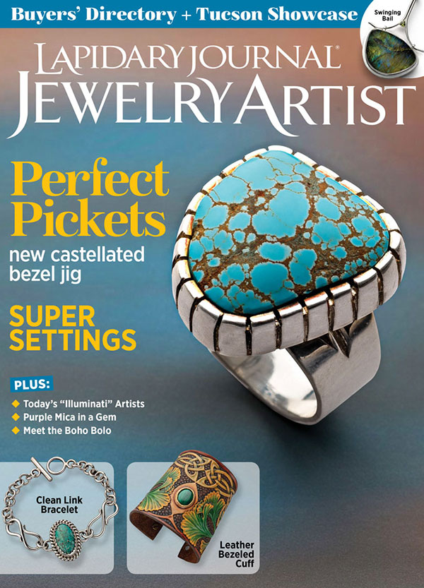 s66295 Magazine - Lapidary Journal Jewelry Artist -  2021 - January / February