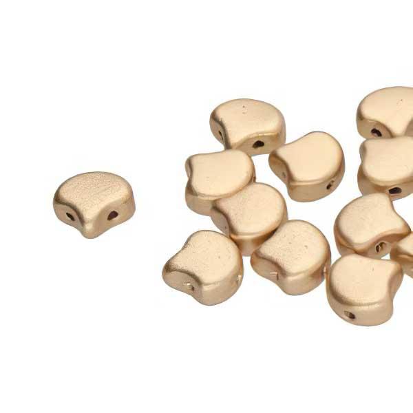 s67383 Czech Shaped Beads -  Ginko - Bronze Pale Gold