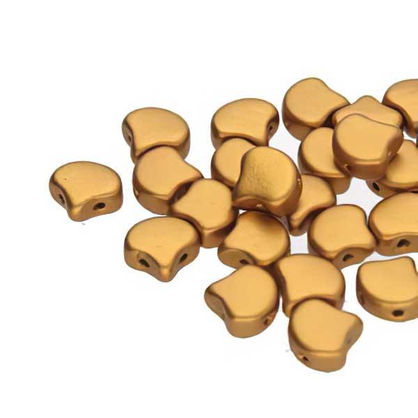 s67384 Czech Shaped Beads -  Ginko - Bronze Gold