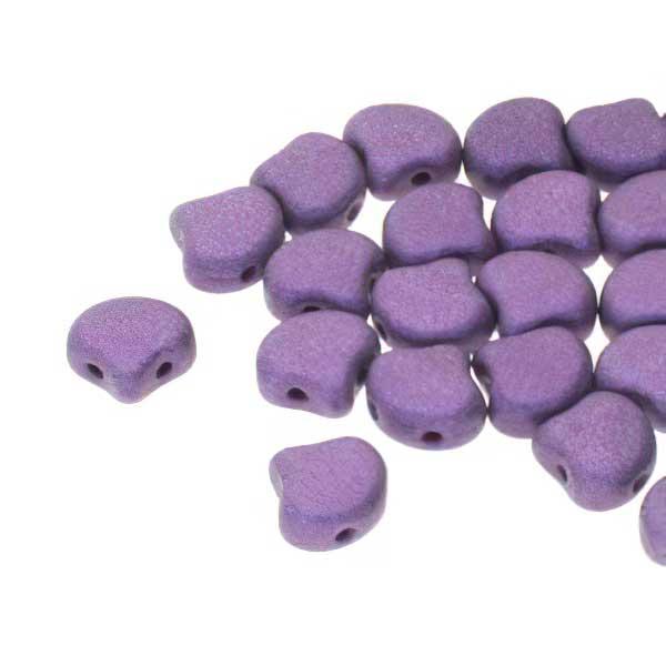 s67468 Czech Shaped Beads -  Ginko - Metallic Suede Purple