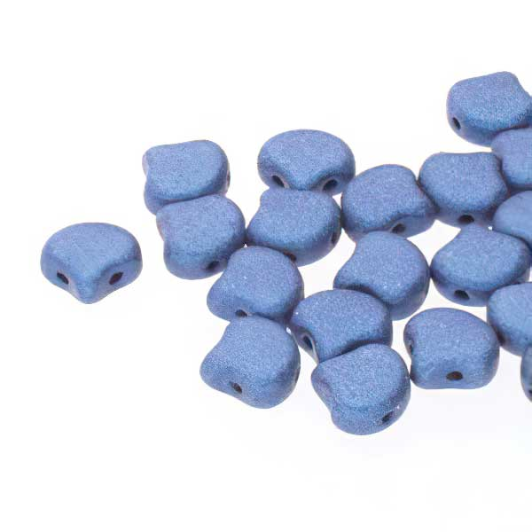 s67469 Czech Shaped Beads -  Ginko - Metallic Suede Blue