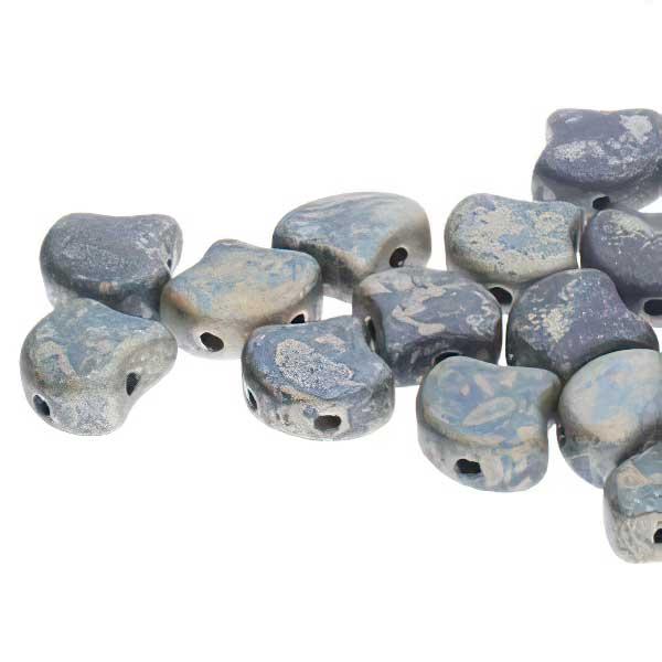 s67483 Czech Shaped Beads -  Ginko - Matte Navy Blue Rembrandt