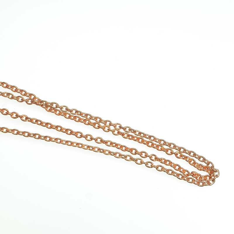 s67538 Chain Oval Links 3x3.5mm - Copper (foot)