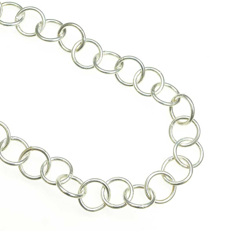 s67541 Chain Round Links 10.5mm - Silverplated (foot)