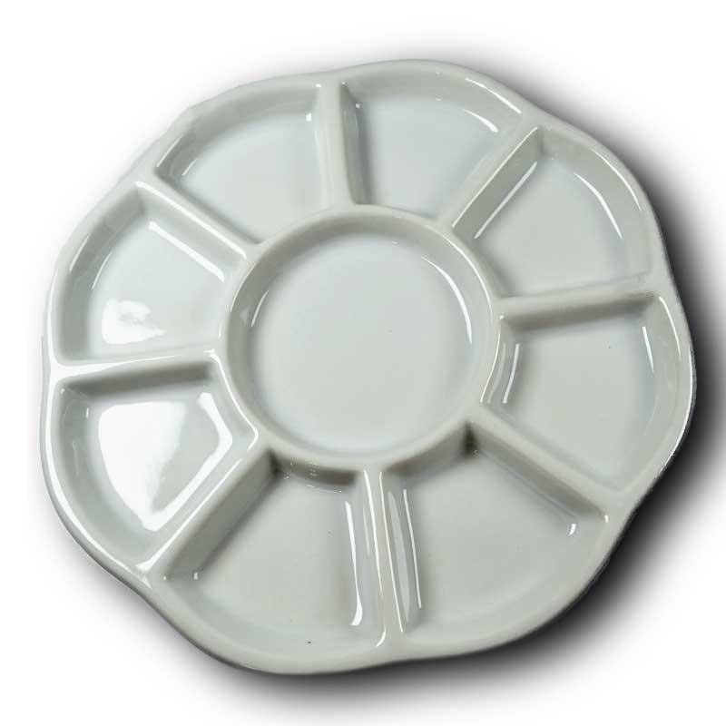 s67612 Ceramic Bead Dish / Tray -  - White