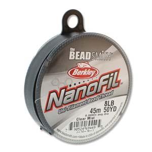 s68164 Nanofil - 50yds 8lb / .008in - Clear Mist (Spool)