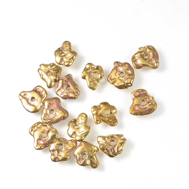 s68741 Bead -  Flat Random - Bronze and Copper (15)