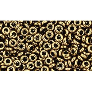 tn08221 Japanese Seedbeads - 8/0 3mm Toho Demi Round Seedbeads - Bronze