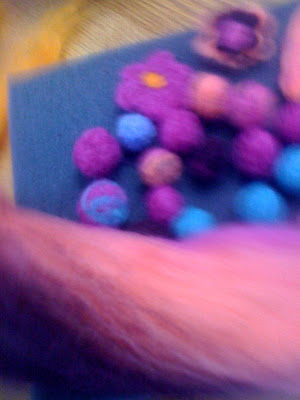 Needle Felted Beads