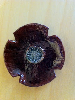 The Joy of Metal Clay: November Copper Poppy Brooch