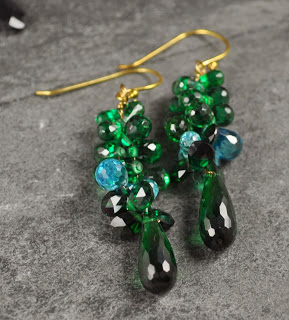 Cluster Drops – A new way to make earrings