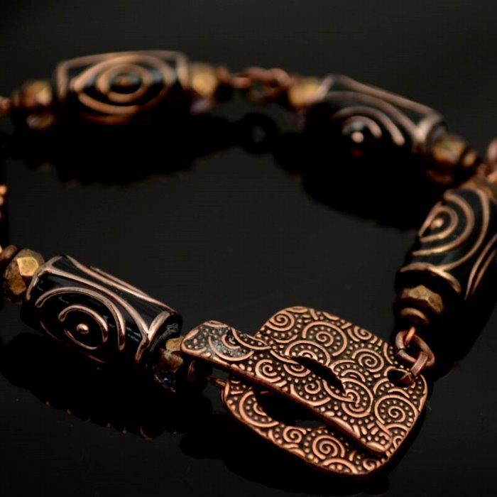 InspirationFX: Copper Spiral Bracelet