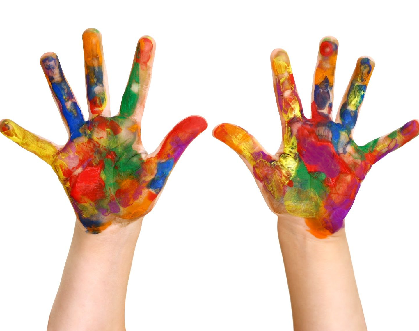 Creative hands, make happy work, on a winter's day!