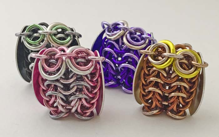 Chainmaille Owl Charm (2 days)