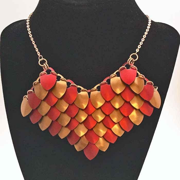 Awesome Scale Maille Necklace