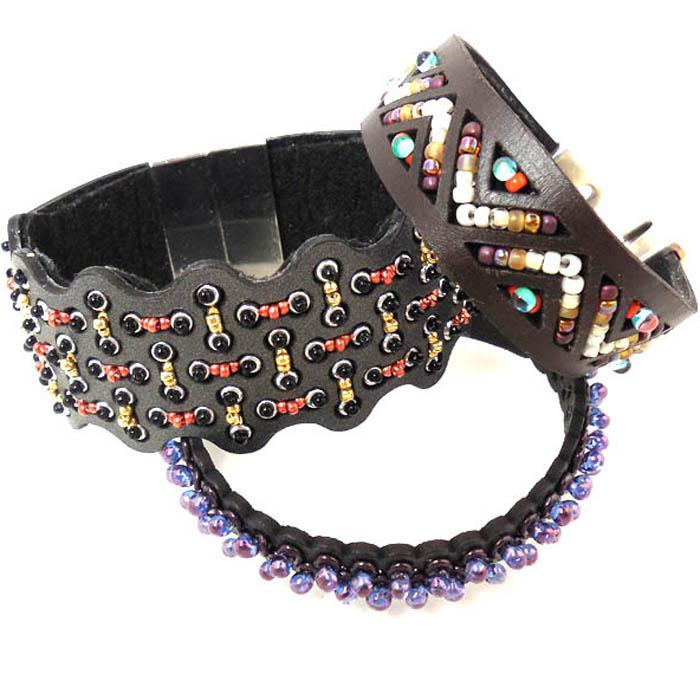 InspirationFX: Southwest Leather Bracelet