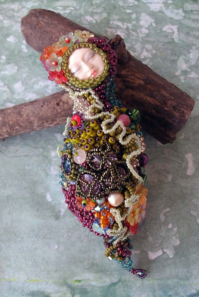 Nature's Muse: Beaded Art Doll