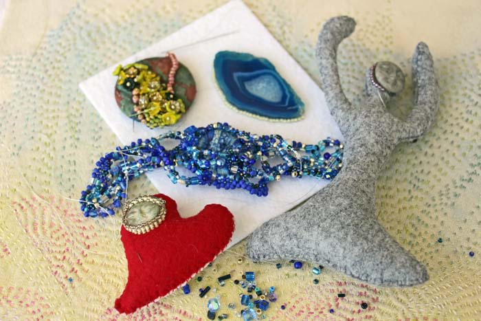 UFO 2 Go: Intensive Support for Intuitive Bead Embroidery, Freeform Peyote & Hand Stitching