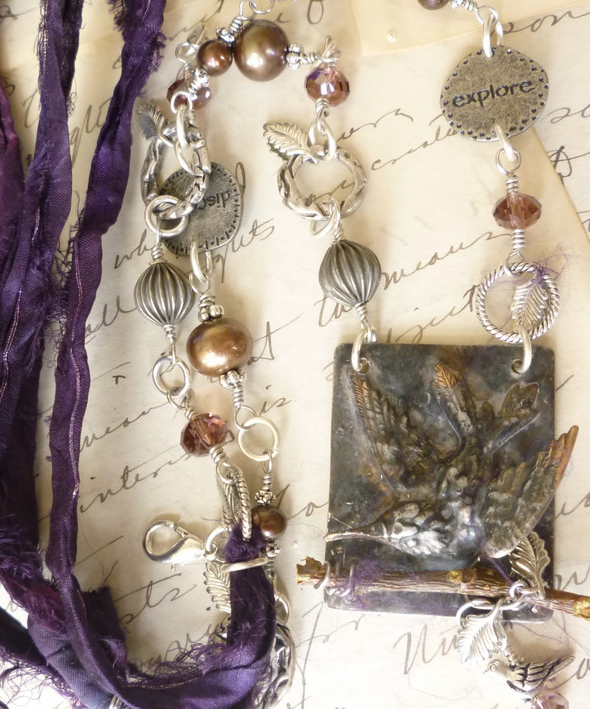 Mixed Media Jewelery: A journey to the wild side!