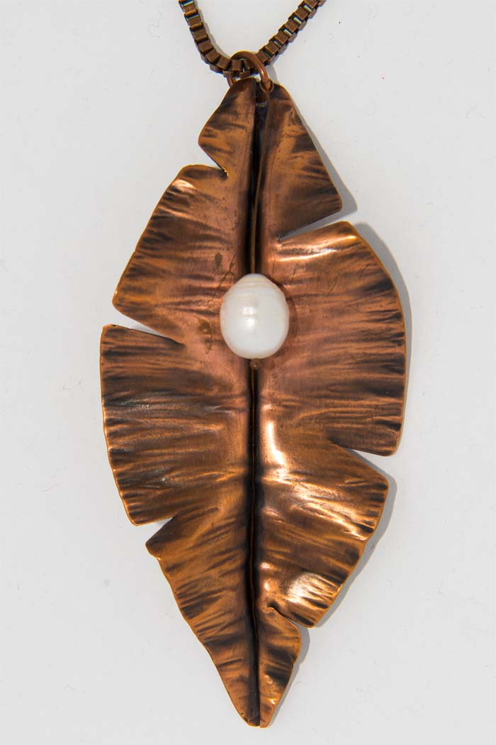 Fold Formed Leaf Pendant