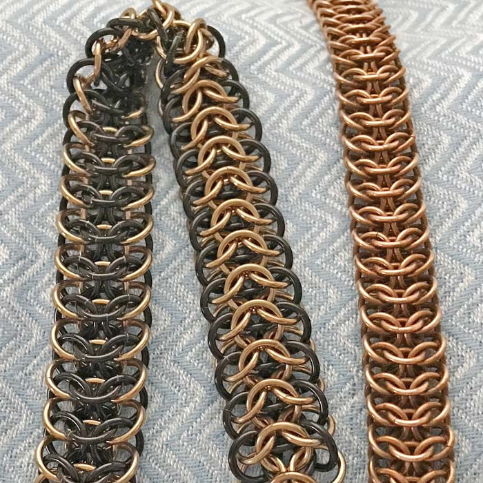 Interwoven 4-in-1 Chainmaille bracelet