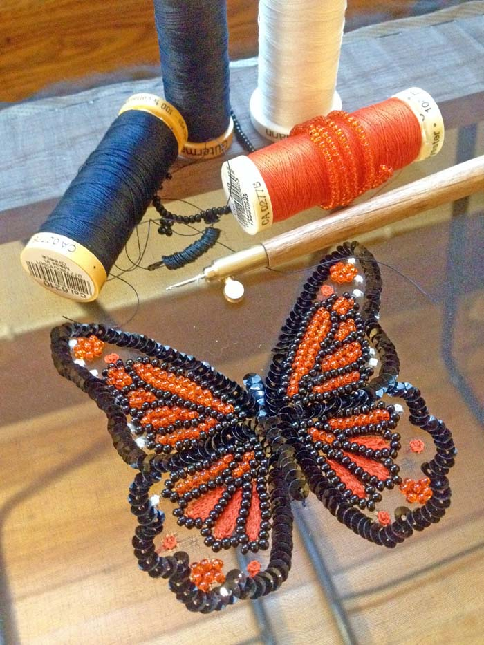 Crochet de Luneville/Tambour Embroidery, Class 2: Monarch Butterfly Motif (continues March 22)