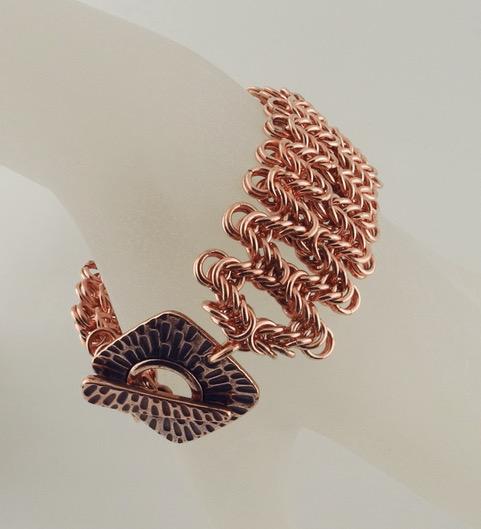 Staggered Byzantine Bracelet