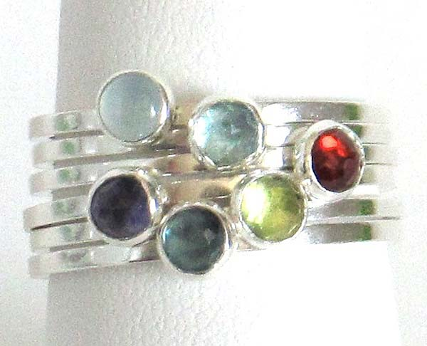 Easy Gemstone Stacking Rings