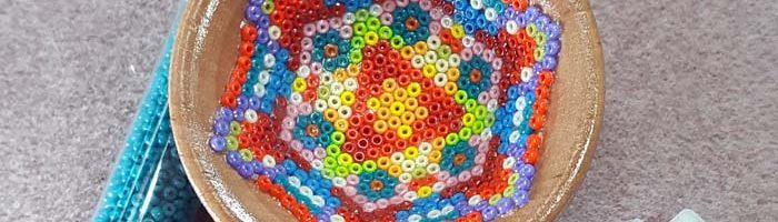 Huichol-style Bead Mosaic: Taking it inside a Bowl
