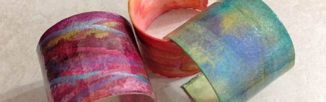 Bodacious Beauties: Watercolour/Resin Cuff Bracelets (2 sessions)