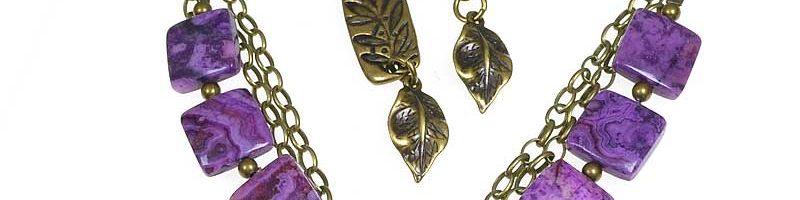 Mixing Purple – Bracelet & Earrings